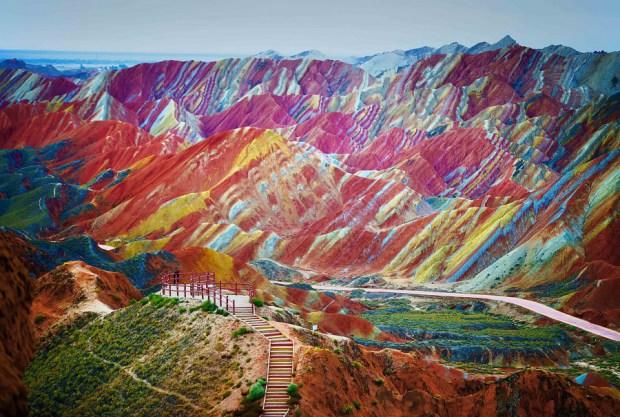 Montañas del arco iris, provincia de Gansu, China