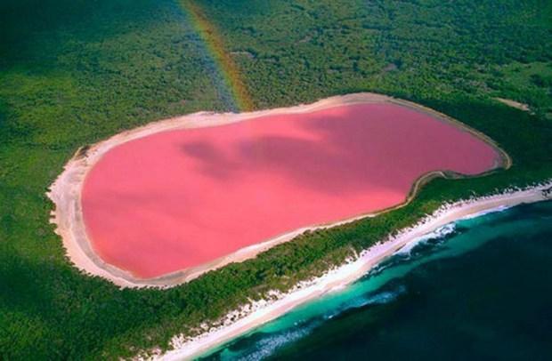 """Lago Hillier, """"El Lago Rosa"""", Australia Occidental"""